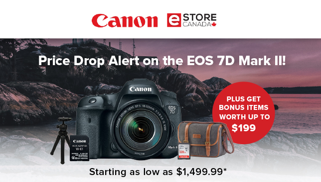 Price Drop Alert on the EOS 7D Mark II!